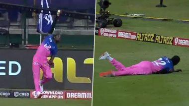 Jofra Archer Takes Breathtaking One-Handed Catch to Dismiss Ishan Kishan RR vs MI Clash in IPL 2020 (Watch Video)