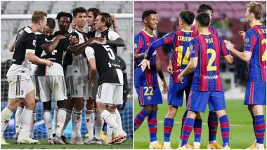 Juventus vs Barcelona Head-to-Head Record: Match Results of Last 5 JUV vs BAR Football Games