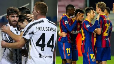 How to Watch Juventus vs Barcelona, UEFA Champions League 2020–21 Live Streaming Online in India? Get Free Live Telecast of JUV vs BAR Group G Game & Football Score Updates on TV
