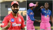 KXIP vs RR Dream11 Team Prediction IPL 2020: Tips to Pick Best Fantasy Playing XI for Kings XI Punjab vs Rajasthan Royals Indian Premier League Season 13 Match 50