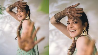 Bride-to-Be Kajal Aggarwal Shares a Happy Pic From Her Mehendi Ceremony, Looks Stunning in a Desi Outfit!