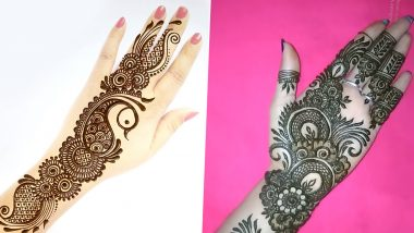 Ramadan 2021 Latest Mehendi Designs: Beautiful Arabic, Rajasthani, Indian, Full-Hand and Finger Mehndi Patterns You Can Try During Ramzan