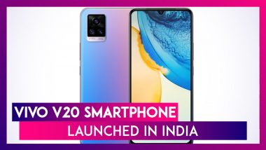 Vivo V20 with Snapdragon 720G SoC Launched in India at Rs 24,990; Check Price, Features & Other Details