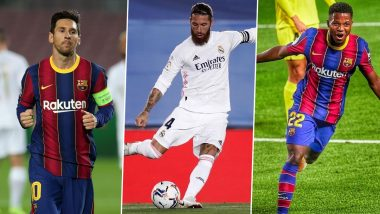 Barcelona vs Real Madrid, El Clasico 2020–21 Key Players: Lionel Messi, Sergio Ramos, Ansu Fati and Other Players to Watch Out for in BAR vs RM La Liga Football Match
