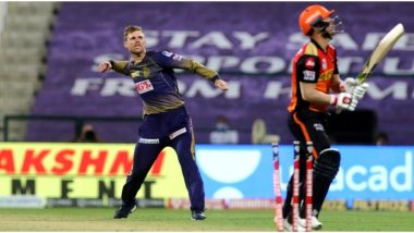 SRH vs KKR Stat Highlights IPL 2020: Lockie Ferguson Shines in First Game of Season as Kolkata Knight Riders Beat Sunrisers Hyderabad in Super Over