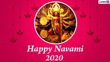 Maha Navami 2020 Messages and HD Images: WhatsApp Stickers, Maa Durga GIFs, Durgotsav Facebook Photos, Hike Greetings and SMS to Send Subho Maha Navami Wishes