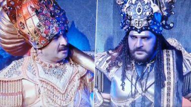 Manoj Tiwari as Angad in Ayodhya's Ramlila Mouthing English Words is Going Viral, Check Funny Video of 'Ek Second' and 'Team ka Chotasa Bandar' Goof-Up