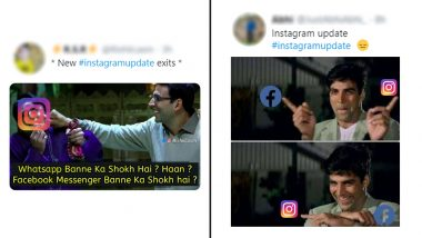 Instagram And Facebook Messenger's Cross-Messaging Feature Brings Truckload of Funny Memes And Hilarious GIFs on Twitter