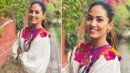 Mira Kapoor Is Channelling That Sublime Charm in a Patchwork Loose White Shirt That Looks Like a Wow-Worthy Wardrobe Addition!