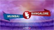 MI vs RCB Live Score Updates Dream11 IPL 2020: Mumbai Indians Have Won Toss and Elected to Bowl First