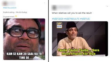NEET Result 2020 Funny Memes Take Over Twitter: Students Deal With NTA Site Crash and Relatives Calling With Hilarious Jokes