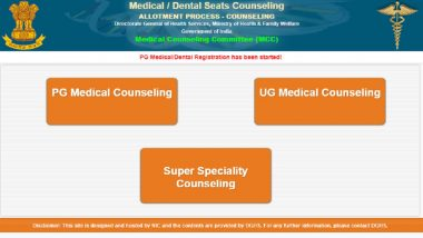 NEET UG Counselling 2020 Begins, Know How to Register Online at mcc.nic.in For Round 1 Allotment