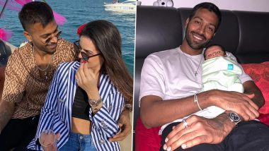 Hardik Pandya 27th Birthday: Natasa Stankovic Pens Heartfelt Note for Husband, Shares Unseen Pictures & Video of Mumbai Indians' All-Rounder With Son Agastya