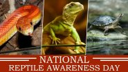 National Reptile Awareness Day 2020 Date: Know History and Significance of The Day Focusing on Conservation of Cold-Blooded Animals