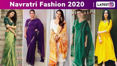 Navratri 2020 Colours and Fashion: Celebrity-Approved Stay-at-Home, Look Festive Chic Colourful Simple Style Ideas!