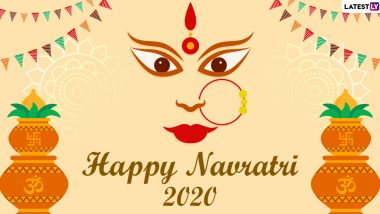 Happy Navratri 2020 Greetings & HD Images: WhatsApp Stickers, SMS, Mata Rani Photos, Facebook Status and Messages to Wish on Navaratri Festival