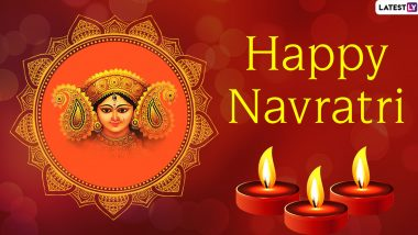 Happy Navratri 2020 Images & HD Wallpapers For Free Download Online: Wish on Sharad Navaratri With New WhatsApp Stickers and GIF Greetings