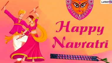 Navratri 2020 Wishes in Gujarati & HD Images: WhatsApp Stickers, GIF Greetings, SMS, Status and Quotes to Send Navratri Shubhechha Messages