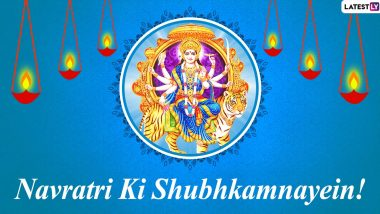 Navratri 2020 Wishes in Hindi: WhatsApp Stickers, HD Images, SMS, Mata Rani Photos, GIF Greetings and Facebook Messages to Celebrate Sharad Navaratri