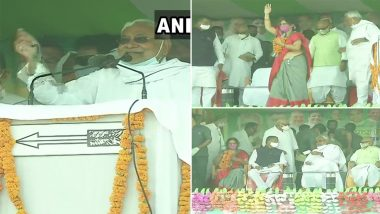 Bihar Assembly Elections 2020:  Nitish Kumar Holds Rally in Madhubani, Says 'We Believe In The Development of Each Section'