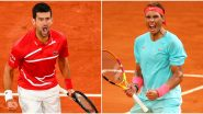 Novak Djokovic vs Rafael Nadal Italian Open 2021 Final Live Streaming Online: How to Watch Free Live Telecast of Men's Singles Tennis Match in India?
