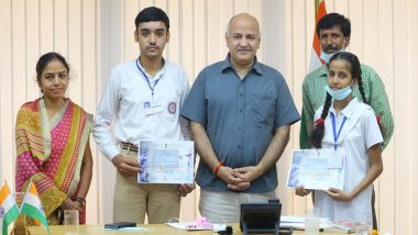 Two Delhi Government School Students Among Top 10 in All-India ISRO Cyberspace Essay Writing Competition, Manish Sisodia Congratulates Them