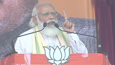 Bihar Assembly Elections 2020: PM Narendra Modi Addresses Rally in Sasaram; From Paying Tribute to Ram Vilas Paswan to Speaking on Article 370 Abrogation in Jammu & Kashmir, Here is What He Spoke About