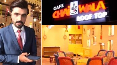 Pakistani Chaiwala, the Blue-Eyed Viral Sensation Starts His Own Cafe in Islamabad! Watch Video of Arshad Khan's 'Cafe Chaiwala Rooftop'
