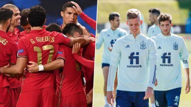 Portugal vs Spain Live Streaming Online, International Friendly 2020: Get Match Free Telecast Time in IST and TV Channels to Watch in India