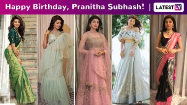Pranitha Subhash Birthday Special: Brilliant Yet Sublime Ethnic Elegance Is How the Doe Eyed Girl Rolls!