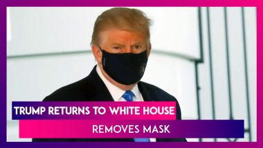 Donald Trump Returns To White House, Removes Mask As He Continues COVID-19 Treatment