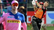 Rajasthan Royals vs Sunrisers Hyderabad, IPL 2020 Toss Report and Playing XI Update: Jason Holder Replaces Kane Williamson as SRH Skipper David Warner Elects to Field