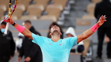 Rafael Nadal Thrashes Novak Djokovic to Win French Open 2020, Netizens Hail Spanish Tennis Star as GOAT As He Equals Roger Federer's All-Time Record of 20 Grand Slam Titles
