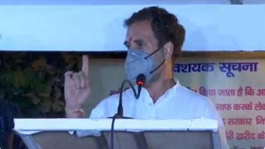 Rahul Gandhi Calls PM Narendra Modi 'Coward', Says China Would've Been 'Thrown Out in 15 Mins' if Congress Was in Power (Watch Video)