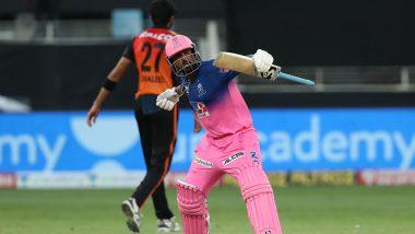SRH vs RR Stat Highlights Dream11 IPL 2020: Rahul Tewatia, Riyan Parag Shine as Rajasthan Royals Register Five-Wicket Victory