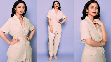 Rasika Dugal Is Breaking the Monotony of Her Chic Beige Pantsuit With a Bold Dash of Red!