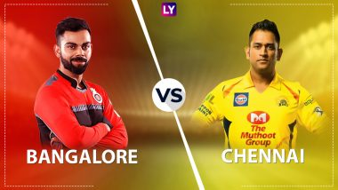 RCB 138/5 in 19 Overs | RCB vs CSK Live Score Updates Dream11 IPL 2020: Faf du Plessis Takes Sensational Catch to Dismiss Virat Kohli