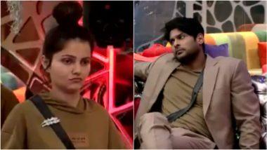 Bigg Boss 14: Sidharth Shukla Calls Rubina Dilaik Selectively Dumb, Feels She Is Less Entertaining Than Eijaz Khan (Watch Video)