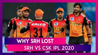 Hyderabad vs Chennai IPL 2020: 3 Reasons Why Hyderabad Lost To Chennai