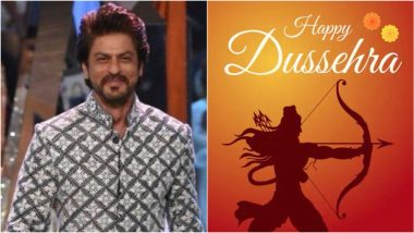 Dussehra 2020: Shah Rukh Khan Extends Wishes to His Fans, Reflects on the Triumph of Good Over Evil!