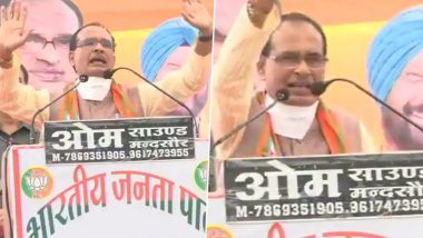 Madhya Pradesh Bypolls 2020: Shivraj Singh Chouhan Hits Out at Kamal Nath, Says a CM 'Takes People Out of Troubles; Watch Video