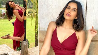 Sonnalli Seygall Is Back to the Chaotic Shoot Life With a Red Hot Thigh-High Slit Gown!