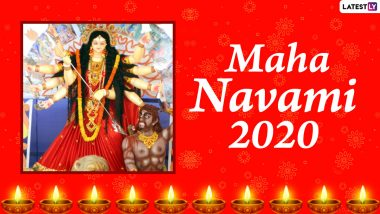 Subho Maha Navami 2020 Messages and Durga Puja HD Images: WhatsApp Stickers, Maa Durga GIFs, Facebook Greetings, SMS to Send Happy Maha Navmi Wishes