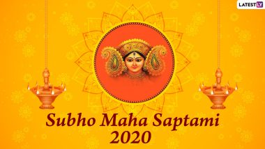 Maha Saptami 2020 Pic, Photos, HD Wallpapers, Subho Saptami Wishes Written in Bengali and SMS
