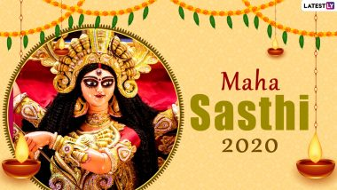 Subho Maha Sasthi 2020 Wishes & Photos: Happy Durga Puja Images, Greetings Written in Bengali, Pictures, Wallpapers and WhatsApp Stickers to Send to Loved Ones