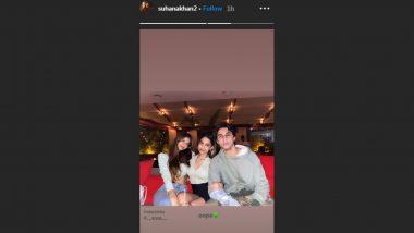 Suhana Khan Strikes a Cute Pose with Cousin Alia Chhiba and Brother Aryan Khan! (View Pic)