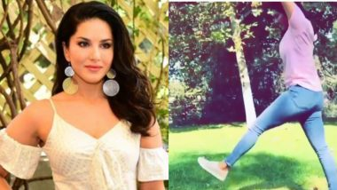 Sunny Leone Does a Perfect Cartwheel, Says 'Just Being a Kid With the Kids' (Watch Video)
