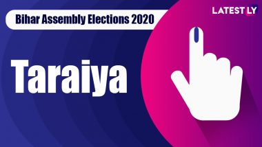 Taraiya Vidhan Sabha Seat in Bihar Assembly Elections 2020: Candidates, MLA, Schedule And Result Date