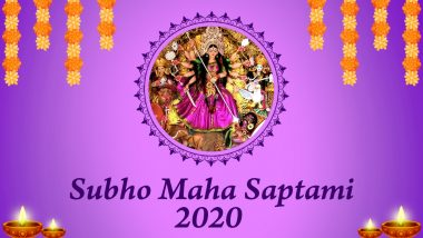 Subho Saptami 2020 Messages in Bengali: Wish Happy Durga Puja With WhatsApp Stickers, Facebook Status, Maa Durga HD Images and GIF Greetings