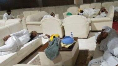 Punjab AAP MLAs Sleep Inside State Assembly Overnight in Protest Over Not Being Shown Draft Against Central Farm Laws, View Pics